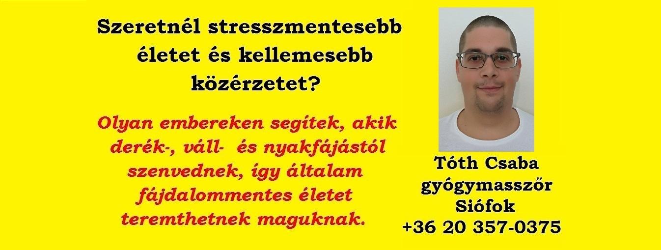 Tóth Csaba Gyógymasszőr Siófok - Pelso Masszázs